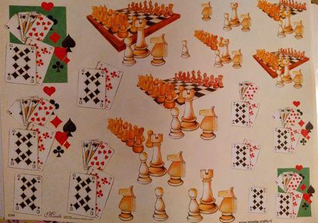 DIY Layered Embellishments - Chess