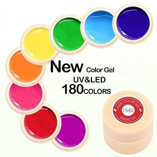 Soak Off Gel Polish Nail Painting UV LED Fast Dry 5ml Venalisa 180 Colors Pots