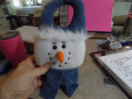 Snowman plush Door knob decoration
