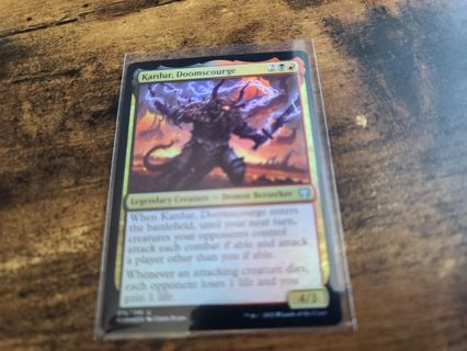 Magic the gathering mtg Kardur Doomscourge foil card