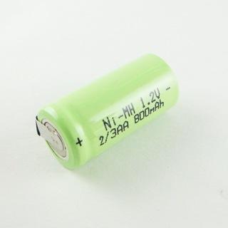 2x Ni-MH 1.2V 2/3AA 1800mAh Rechargeable NI-MH Batteries