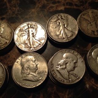 Silver half dollar