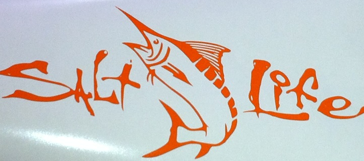 Free salt life sticker decal swordfish saltwater fishing for Free fishing stickers