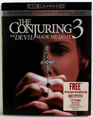 ♨️ New Conjuring 3 The Devil Made Me Do It 4K + Blu-Ray + Digital ♨️