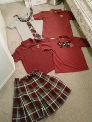 1 LOT School Uniforms