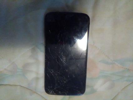 "Used Broken *Blue 5.7"" Phone *UNLOCKED* BLACK 16GB"