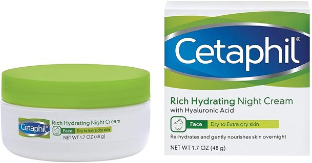 New Cetaphil Rich Hydrating Night Cream with Hyaluronic Acid, 1.7 Ounce