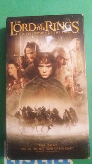 vhs lord of the rings  the fellowship of the ring free shipping