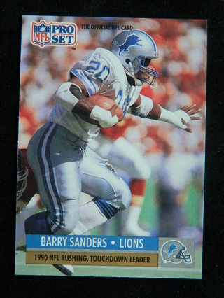 Free 1991 Pro Set 10 Barry Sanders 1990 Nfl Rushing Touchdown