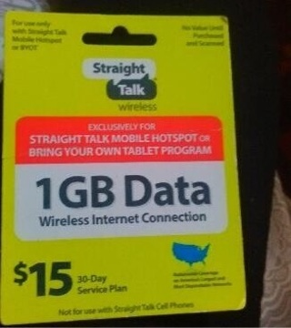 Straight talk data card