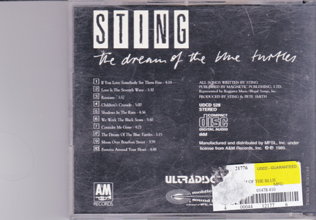 Sting Gold CD collectible