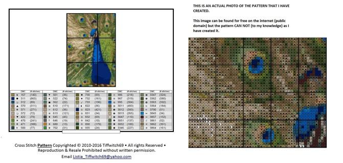 Peacock Cross Stitch Patterns ***WINNERS CHOICE***