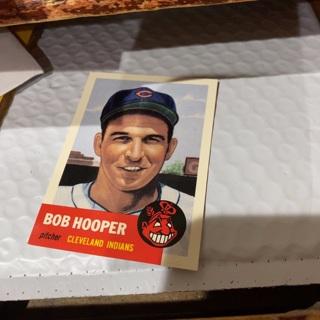 1953 topps archives Bob hooper baseball card