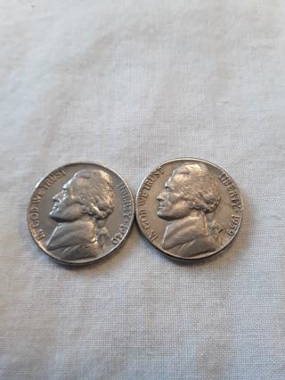 2 Older Nickels 1940 & 1959-D Winner gets both (#P)