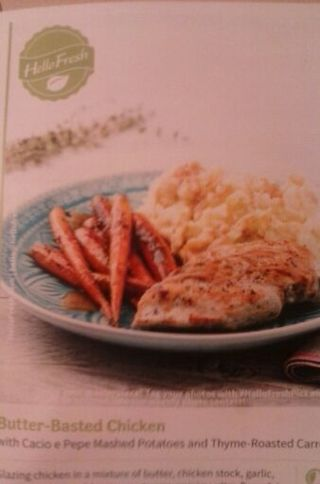 Recipe for Butter Basted chicken & sides