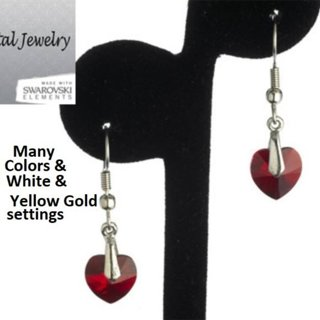 Heart Earrings COLOR and FINISH CHOICE NWT