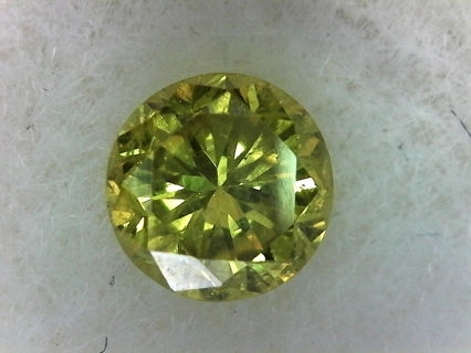 GEMSTONE NATURAL DIAMOND ABOUT QUARTER OF A CARAT CANARY YELLOW JUST FANTASTIC AND MOST BEAUTIFUL!