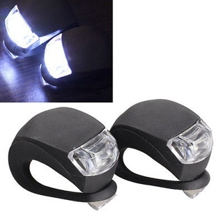 2 x LED Bicycle Bike Cycling Silicone Head Front Rear Wheel Safety Light Lamp