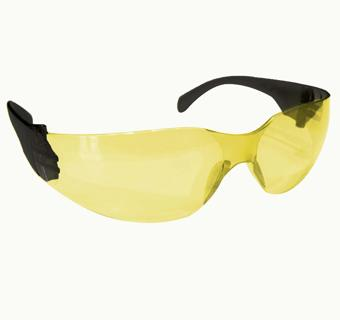 SAFE HANDLER Protective Safety Glasses, Yellow Poly-carbonate Impact and Ballistic Resistant Lens
