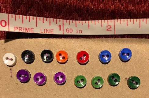 14 TEENY TINY buttons - for doll clothes, scrapbooking, crafts, sewing, etc