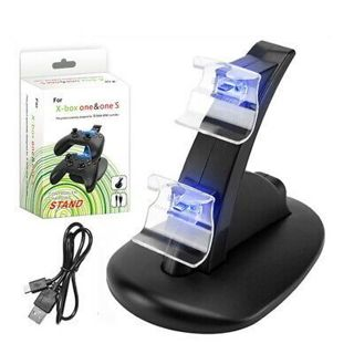 for Xbox One/S Dual Controller Charge Dock Station Gamepad Pack Charging Stand