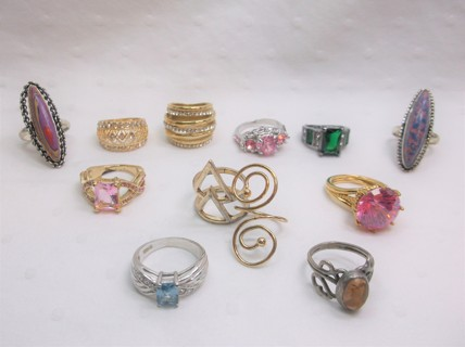 12 Pre-Owned Rings - Some Tarnishing