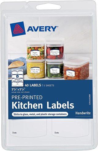 Avery Kitchen Labels