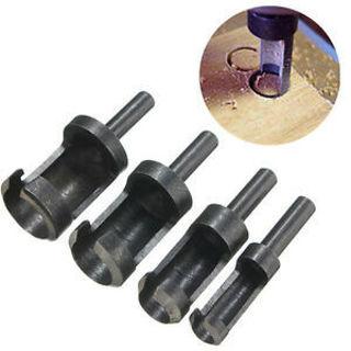 4Pcs/set Hole Cutting Power Tool and Wood Plug Hole Cutter Drill Wood Drill Bit