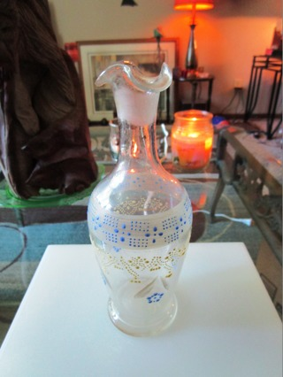 Hand Painted Glass Bud Vase