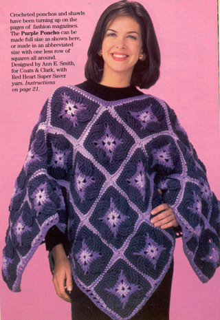 Free Crochet Patternjustable Size Patchwork Poncho