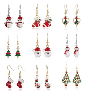 Christmas Santa Claus Pendant Earrings Christmas Decorations For Family 2019 New Year Xmas Gifts
