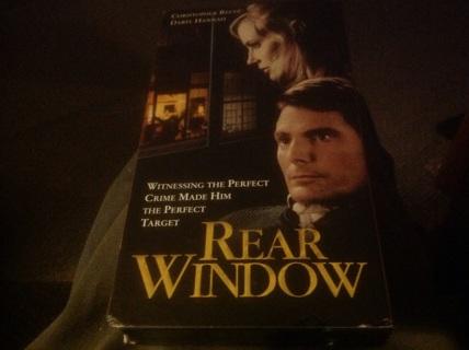 VHS- REAR WINDOW w CHRISTOPHER REED, DARYL HANNAH