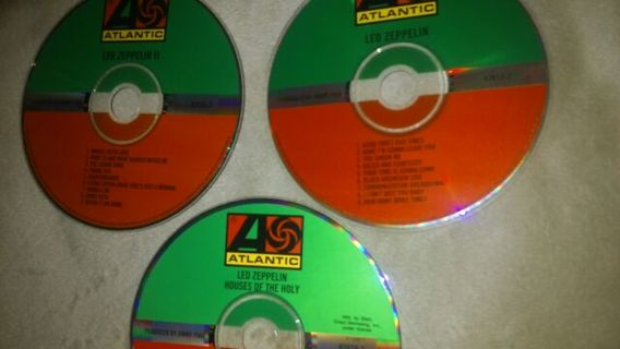 free led zeppelin cd collection no cases all tested work great free shipping cds are making a comeback