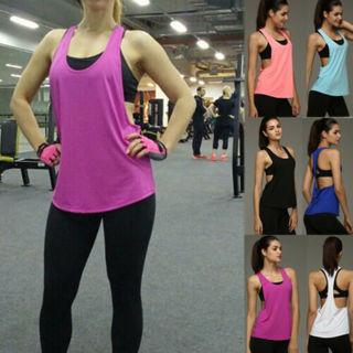 Women Tank Tops Quick Dry Loose Fitness Sports Sleeveless Smock Vest Running