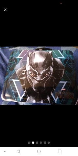 MARVEL COMICS BLACK PANTHER METAL LUNCH BOX BRAND NEW
