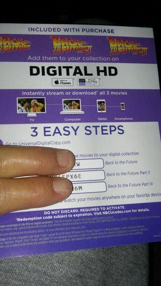 Back to the Future I, II & III (Digital Copies)