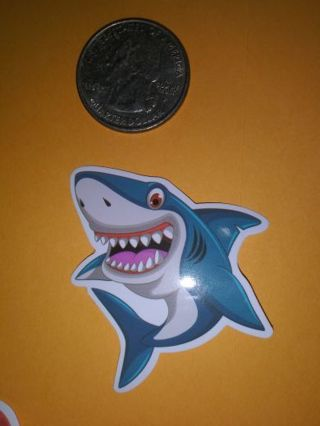 Shark vinyl lab top sticker adorable lowest gins! No refunds! No lower