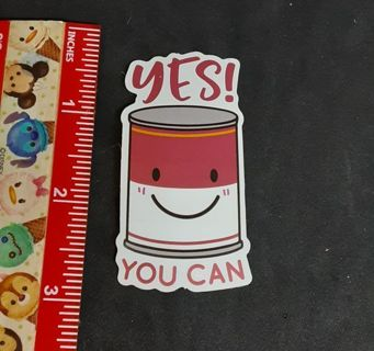 Yes you Can Soup cute Large sticker decal NEW