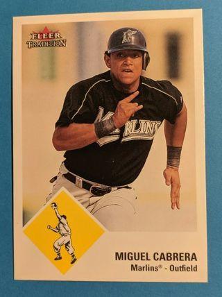 MIGUEL CABRERA ROOKIE CARD