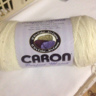 8 oz 100% Acrylic 4 ply Wither White Yarn.