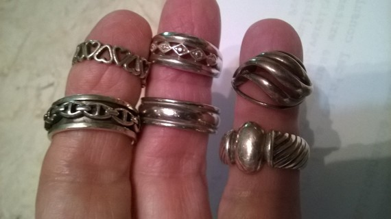 Choice of 2 Sterling Silver Rings
