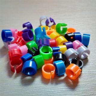 100 Pcs Parrot Pigeon Bird Duck Hen Chicken Leg Band Poultry Clip Rings