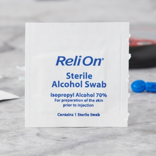 Brand New ReliOn Sterile Alcohol Swabs Individually Wrapped