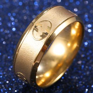 NEW!! Unisex Batman Stainless Steel Titanium Band Ring- Size 6