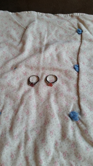 Diamond Candle Rings - Set of 2 - Costume Jewelry
