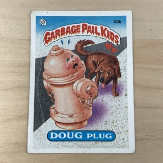 Garbage Pail Kids Series 2: Doug Plug #43b