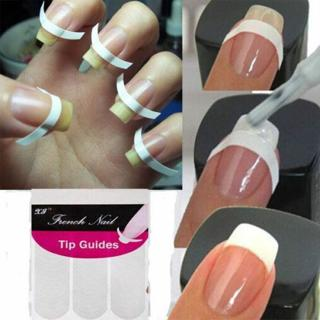 240Pcs New French Manicure Nail Art Tips Form Guide Sticker Polish DIY Stencil G