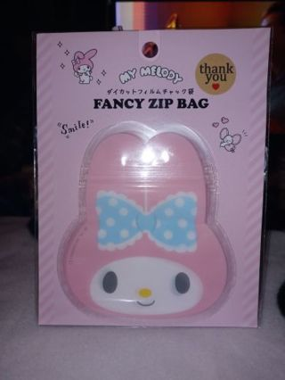 "❤✨❤✨❤3 BRAND NEW KAWAII ""MY MELODY"" FANCY DIE-CUT ZIPLOCK BAGS❤✨❤✨❤"