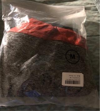 BNIP Sz Med, Juniors Color Block, (Red, Grey, Black) Unisex, Hoodie. Very Soft.