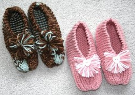 Free Grandmas Knitted Slippers Pattern Knitting Listia